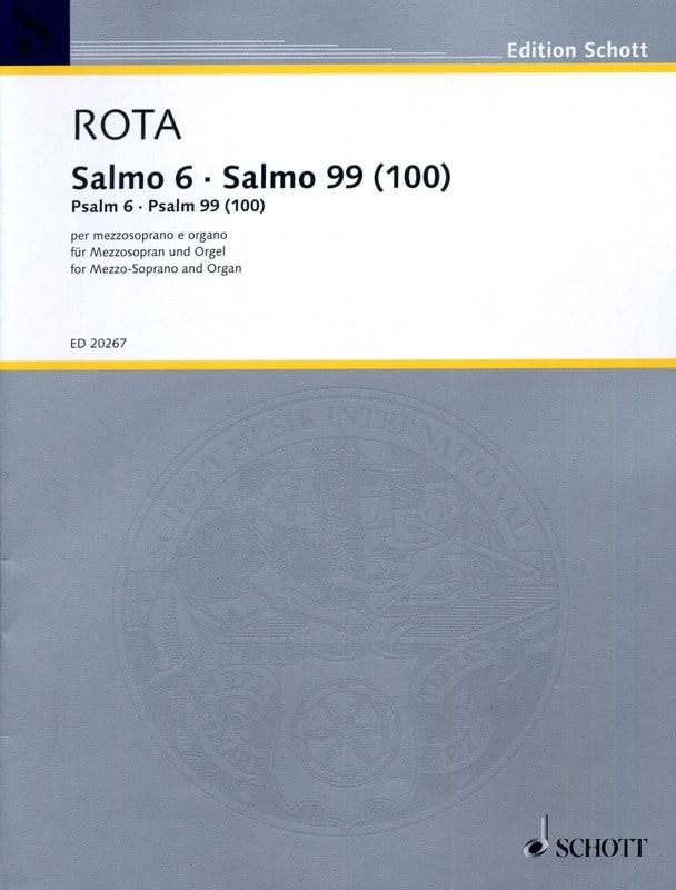 Psalm 6 / Psalm 99 100 - ROTA - Partition - laflutedepan.com