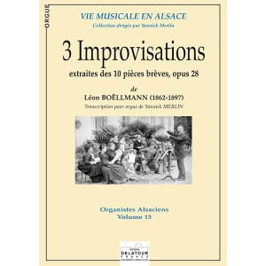 3 Improvisations - Léon Boëllmann - Partition - laflutedepan.com