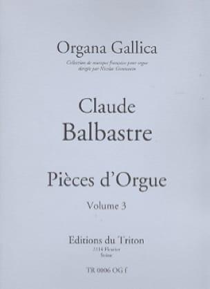 Pièces d' Orgue Volume 3 - Claude-Bénigne Balbastre - laflutedepan.com