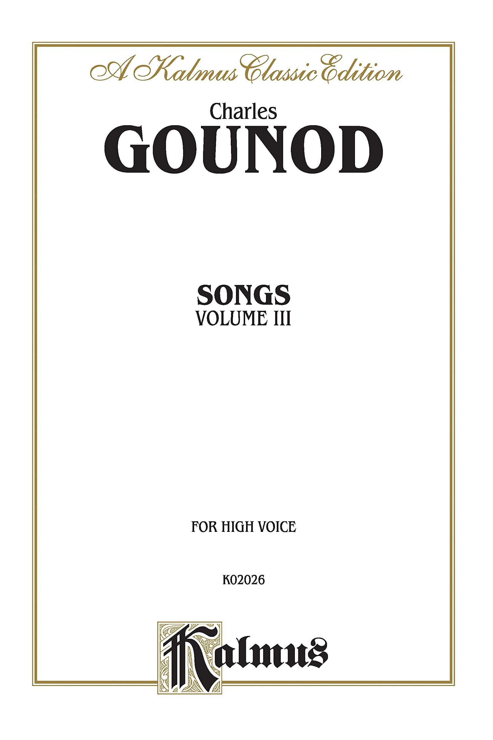 Songs Volume 3. Voix Haute - GOUNOD - Partition - laflutedepan.com