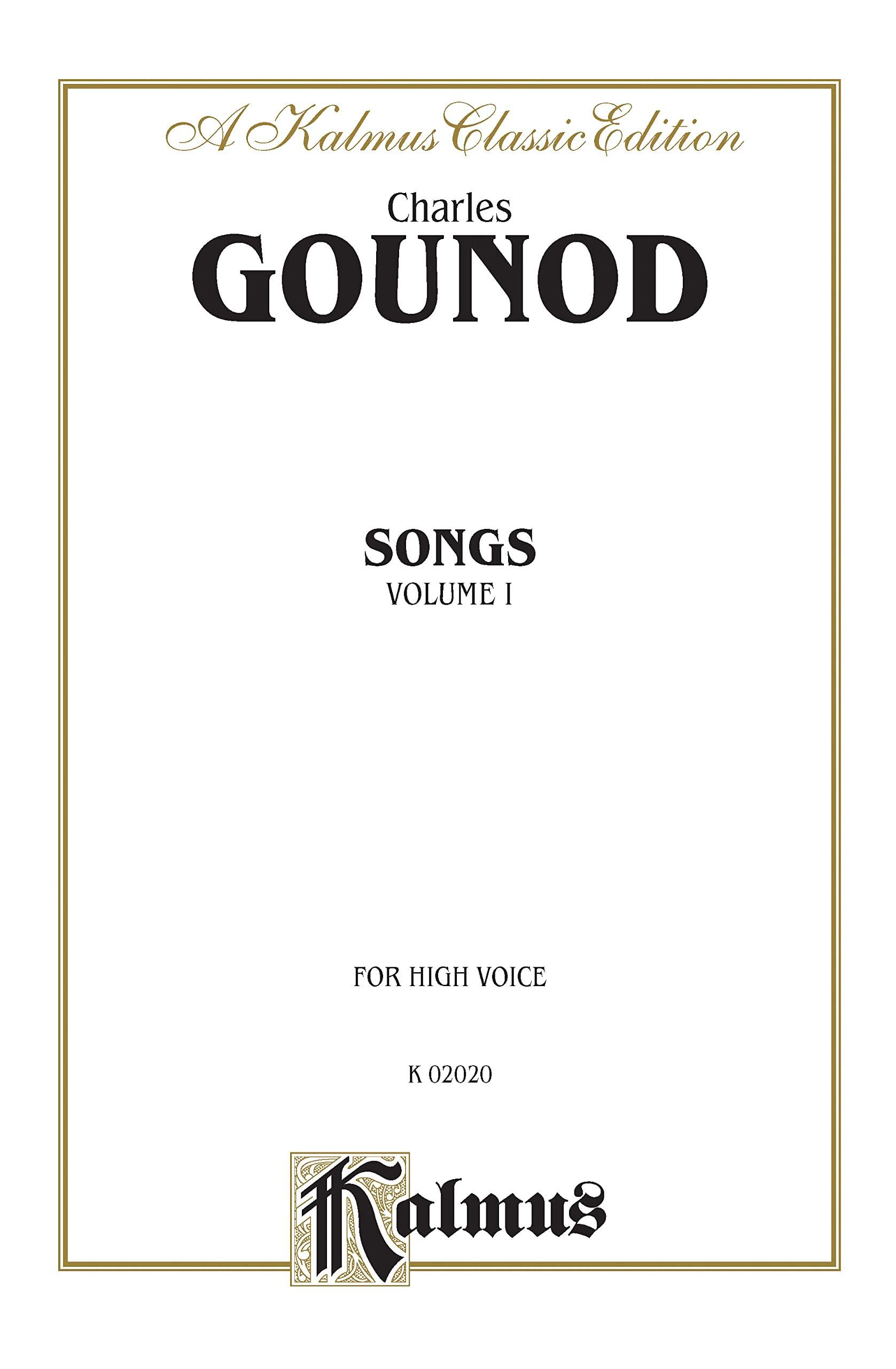 Charles Gounod - Songs Volume 1. High Voice - Partition - di-arezzo.com