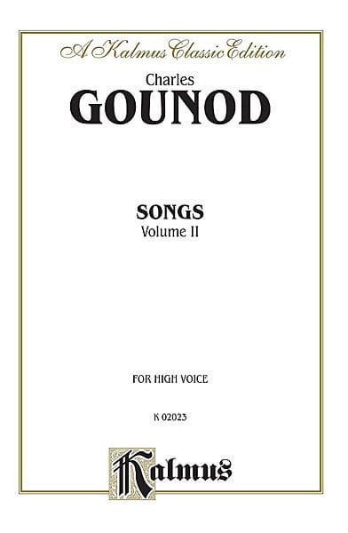 Charles Gounod - Songs Volume 2. High Voice - Partition - di-arezzo.co.uk