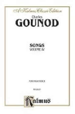 Charles Gounod - Songs Volume 4. High Voice - Partition - di-arezzo.com