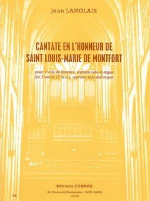 Jean Langlais - Cantate En L'honneur de Saint Louis-Marie de Montfort - Partition - di-arezzo.fr
