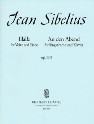 Illalle Op. 17-6 - SIBELIUS - Partition - Mélodies - laflutedepan.com