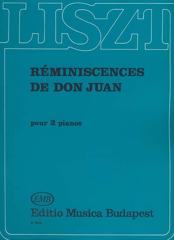 Franz Liszt - Recuerdos de Don Juan. 2 pianos - Partition - di-arezzo.es
