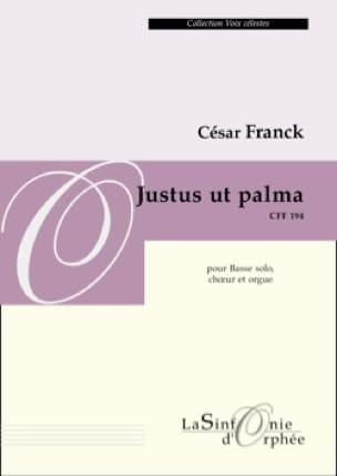 Justus Ut Palma - FRANCK - Partition - Chœur - laflutedepan.com