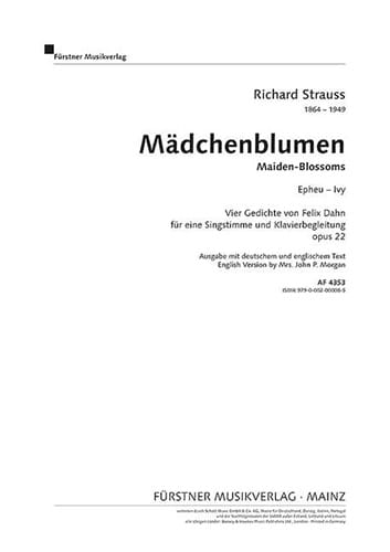 Epheu Op. 22-3 - Richard Strauss - Partition - laflutedepan.com
