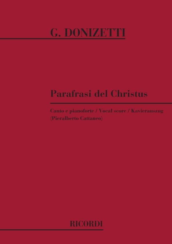 4 Parafrasi Del Cristus - DONIZETTI - Partition - laflutedepan.com