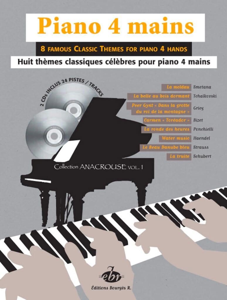 8 Thèmes Classiques Volume 1. 4 Mains + 2 CD - laflutedepan.com
