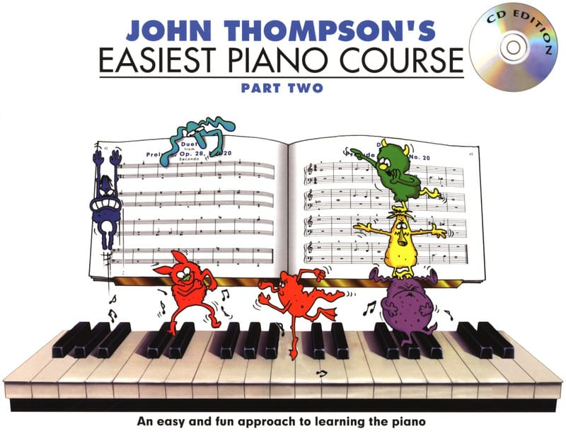 John Thompson - Easiest Piano Course Volume 2 with CD - Partition - di-arezzo.co.uk