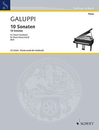 10 sonaten - Baldassare Galuppi - Partition - laflutedepan.com