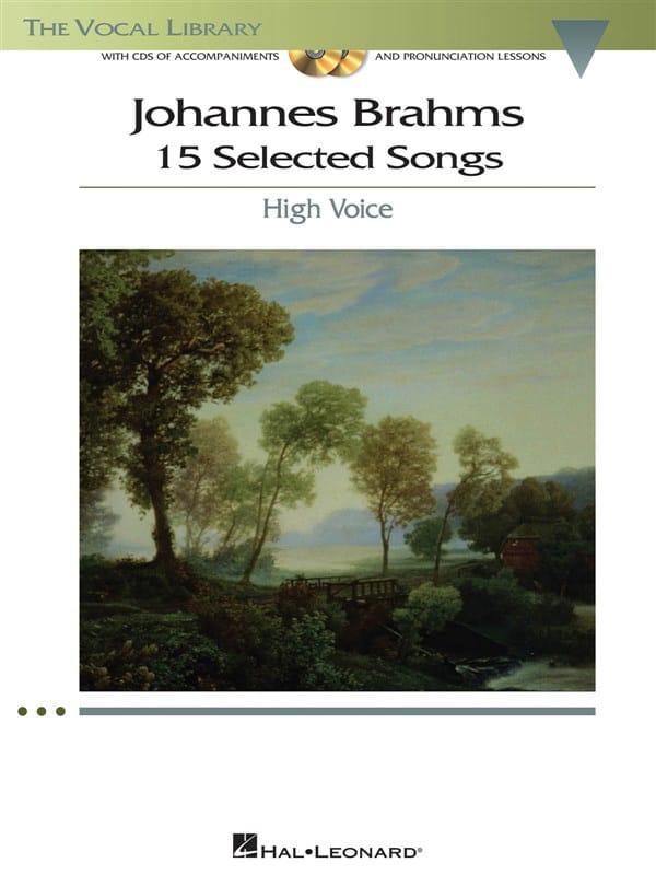 15 Selected Songs. Voix Haute - BRAHMS - Partition - laflutedepan.com