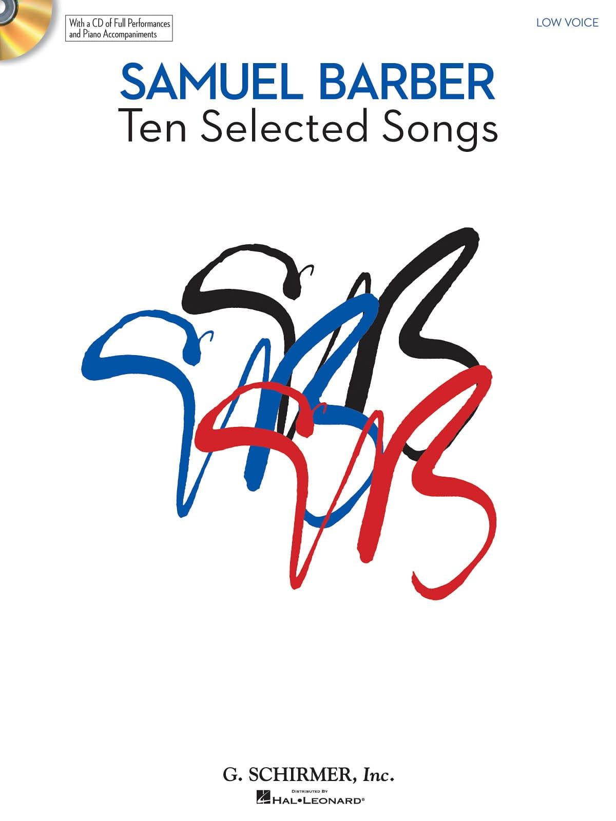 10 Selected Songs. Voix Grave - BARBER - Partition - laflutedepan.com