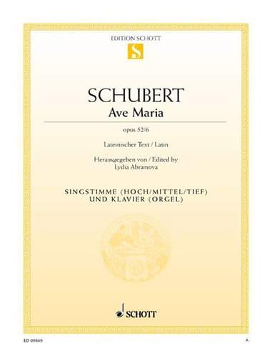 SCHUBERT - Ave Maria Opus 52-6 - Partition - di-arezzo.fr