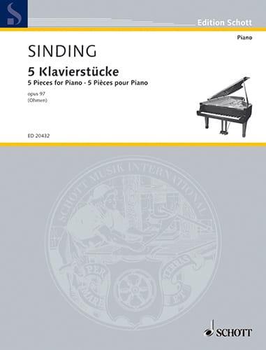 5 Klavierstücke Op. 97 - Christian Sinding - laflutedepan.com