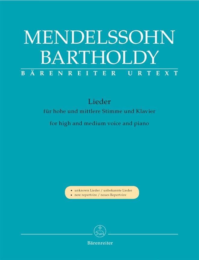 MENDELSSOHN - Lieder. Voix Haute et Moyenne - Partition - di-arezzo.fr