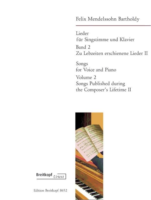 MENDELSSOHN - Lieder Volume 2 - Partition - di-arezzo.fr