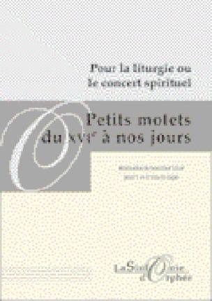 - Petits Motets Du 16ème A Nos Jours - Partition - di-arezzo.fr