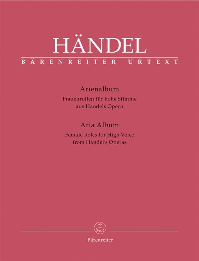 HAENDEL - Arienalbum Frauenrollen Für Hohe Stimme - Partition - di-arezzo.co.uk