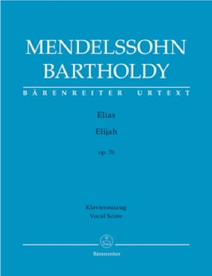 MENDELSSOHN - Elias Opus 70 - Partition - di-arezzo.co.uk