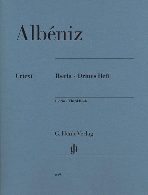 Iberia - Troisième cahier - ALBENIZ - Partition - laflutedepan.com