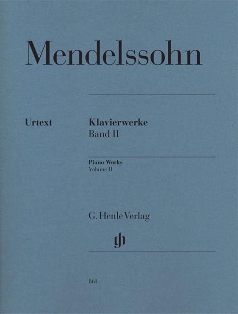 MENDELSSOHN - Works for piano. Volume 2 - Partition - di-arezzo.co.uk