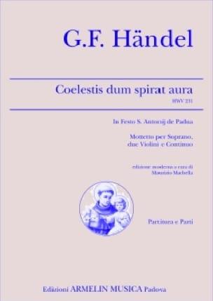 Coelestis Dum Spirat Aura HWV 231 - HAENDEL - laflutedepan.com