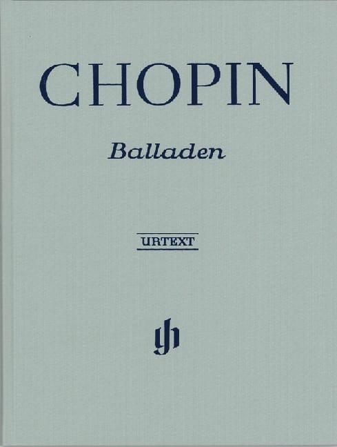 Ballades. Relié - CHOPIN - Partition - Piano - laflutedepan.com