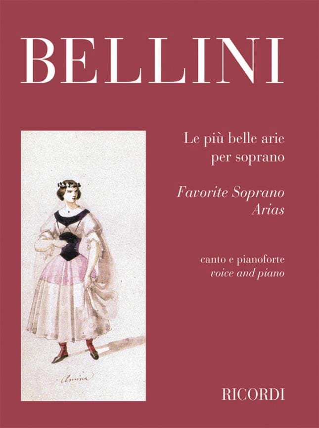 Vincenzo Bellini - The Piu Belle Arie Per Soprano - Partition - di-arezzo.co.uk