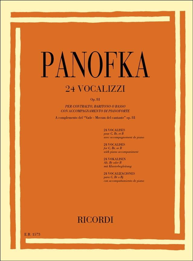 Heinrich Panofka - 24 Vocalises Op. 81 - Partition - di-arezzo.co.uk