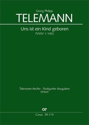 TELEMANN - Uns ist ein Kind geboren - Partition - di-arezzo.co.uk