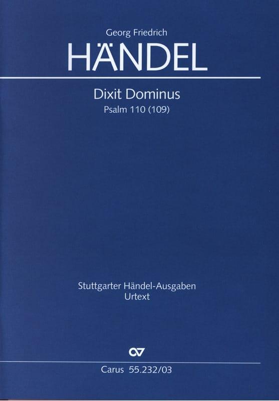 Dixit Dominus Hwv 232 - HAENDEL - Partition - Chœur - laflutedepan.com