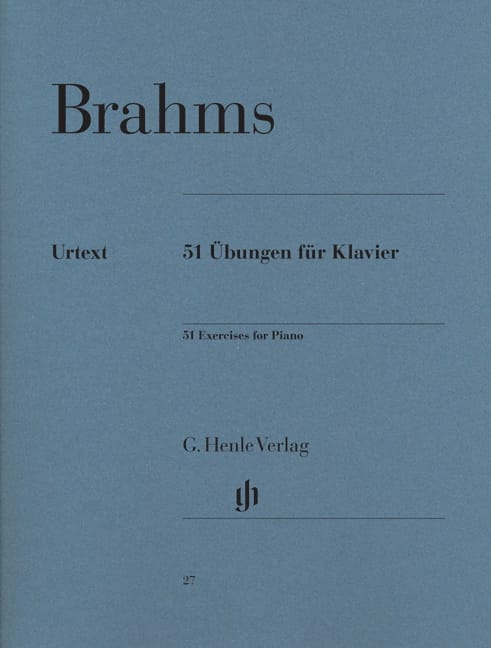 51 Exercices Pour Piano - BRAHMS - Partition - laflutedepan.com