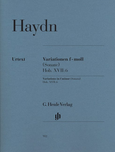 HAYDN - Variations in F minor Hob. XVII: 6 - Partition - di-arezzo.co.uk