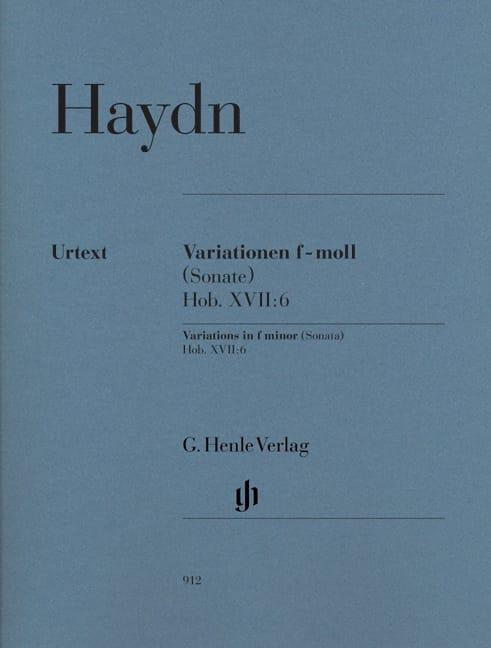 HAYDN - Variations in F minor Hob. XVII: 6 - Partition - di-arezzo.com