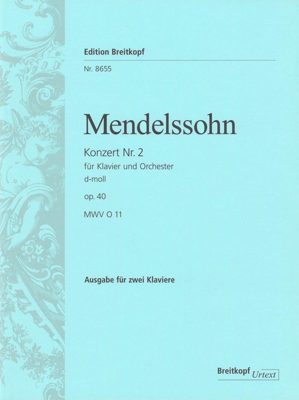 Concerto n° 2 pour piano Op. 40 En Ré Mineur Mwv O 11 - laflutedepan.com