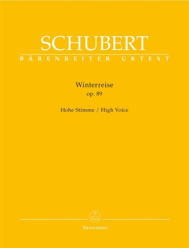 SCHUBERT - Winterreise Opus 89. High Voice - Partition - di-arezzo.es