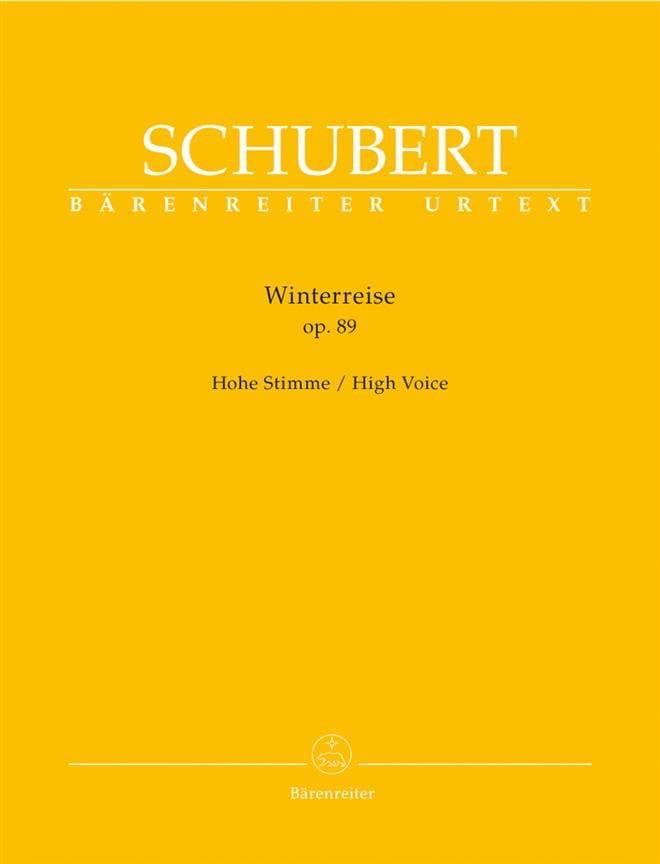 Winterreise Opus 89. Voix Haute - SCHUBERT - laflutedepan.com