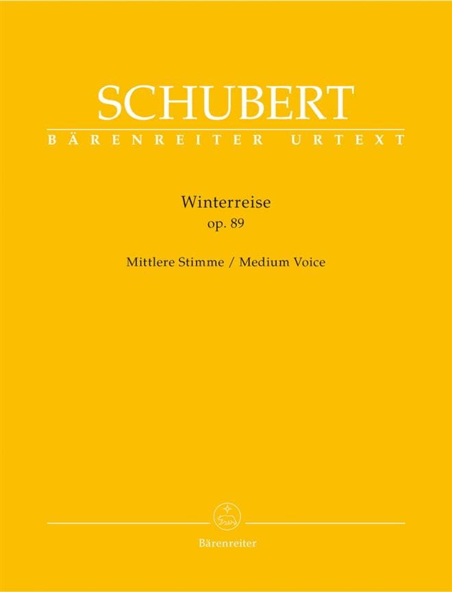 SCHUBERT - Winterreise Opus 89. Average Voice - Partition - di-arezzo.co.uk