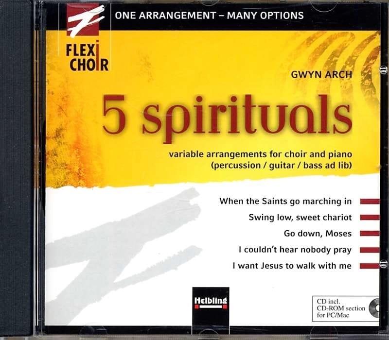 5 Spirituals CD - Partition - Chœur - laflutedepan.com