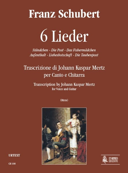 6 Lieder - SCHUBERT - Partition - Guitare - laflutedepan.com