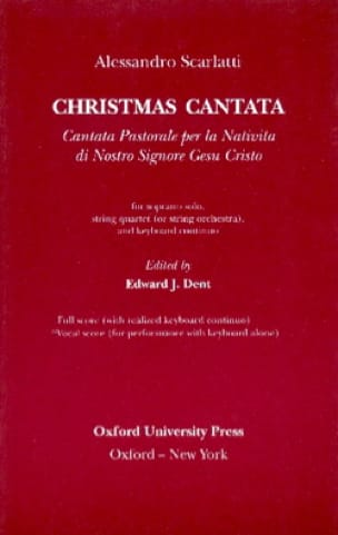 Christmas Cantata - Alessandro Scarlatti - laflutedepan.com