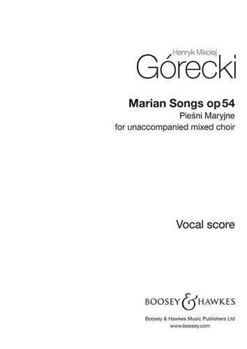 Henryk Mikolaj Gorecki - Piesni Maryjne Op. 54 - Partition - di-arezzo.co.uk
