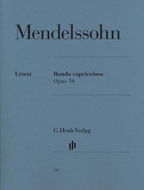 MENDELSSOHN - Rondo Capriccioso Opus 14 - Partition - di-arezzo.co.uk