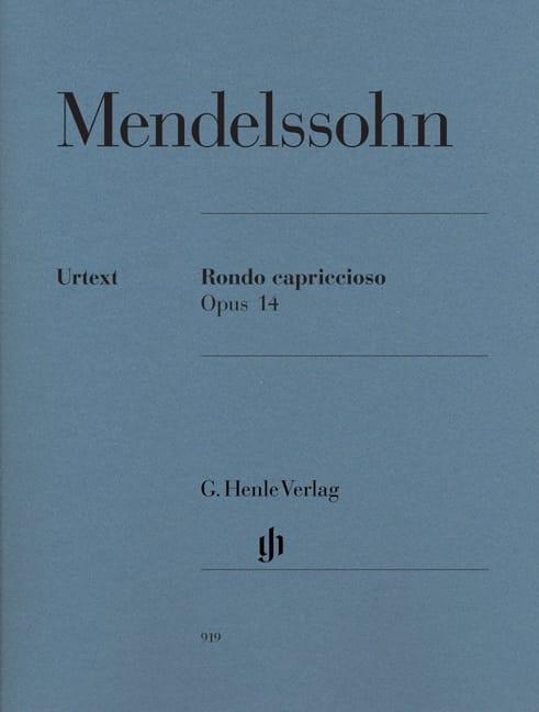 MENDELSSOHN - Rondo Capriccioso Opus 14 - Partition - di-arezzo.jp