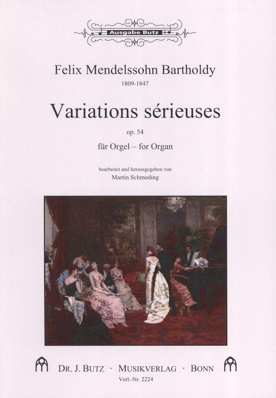 MENDELSSOHN - Serious Variations Opus 54 - Partition - di-arezzo.com