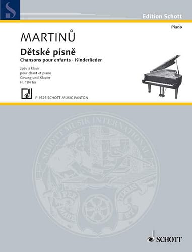 Detske Pisne H 184b - MARTINU - Partition - laflutedepan.com