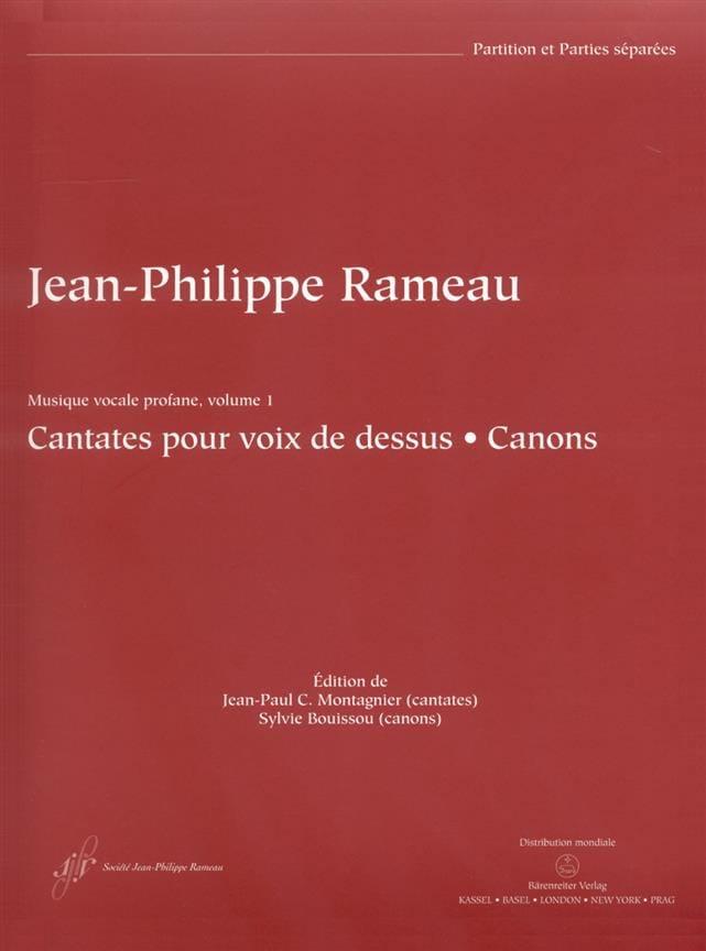 Cantates Pour Voix de Dessus et Canons - RAMEAU - laflutedepan.com