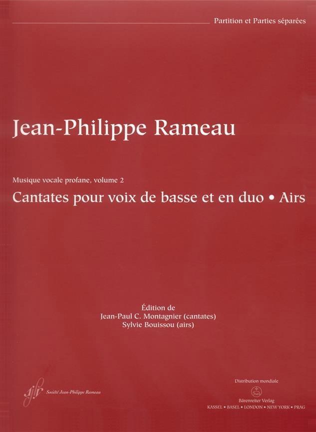 Cantates et Airs Pour Voix de Basse En Duos. - laflutedepan.com